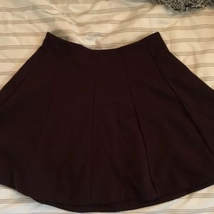 URBAN OUTFITTERS Maroon Skater Skirt